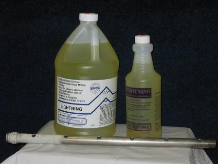 Lightning our products diamond products inc for Sanivac concentrate bathroom cleaner and lime remover
